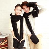 South Korea lovely Eva is lambs wool lovely panda hooded scarves gloves bear cartoon cap