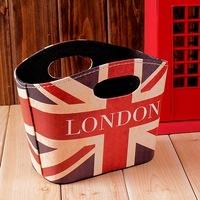 British style flag torx sundries storage basket home accessories ornaments box christmas decoration