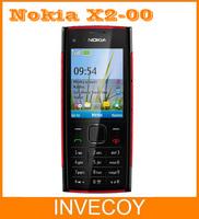 X2-00 original unlocked Nokia X2 mobile phone Nokia X2-00 Bluetooth FM JAVA 5MP symbian OS freeshipping