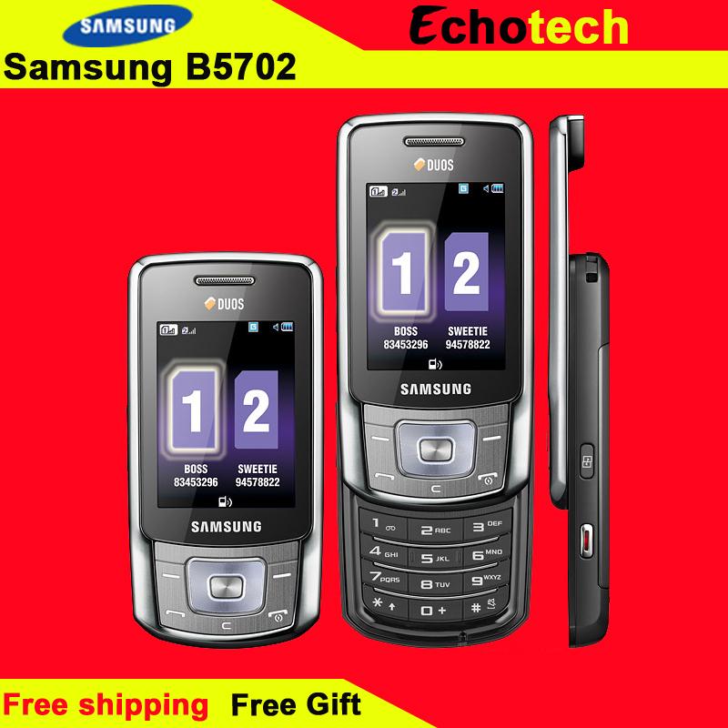 B5702 Original Samsung B5702 Dual SIM Card Jave Radio Mobile Phone Free Shipping In stocks(China (Mainland))