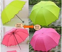New creative magic umbrella / Child Outdoor UV umbrella / parasol water becomes magical flower free shipping