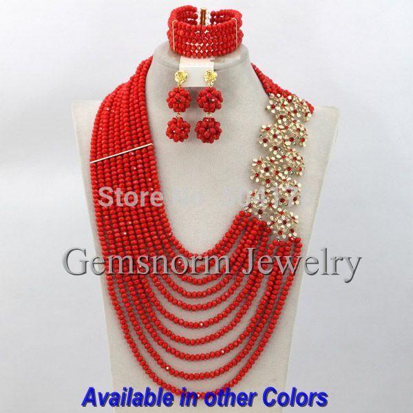 Fashion African Jewelry Sets 18k Latest Nigerian Wedding Crystal