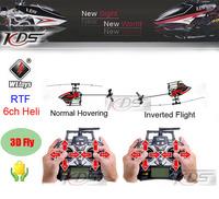 Free shipping WLtoys V933 2.4GHZ 6 Channel Remote Control RC Helicopter RTF 3D Inverted Flight  v911 v922 updated  children toys