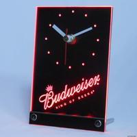 tnc0467 Budweiser Beer Bar 3D LED Table Desk Clock