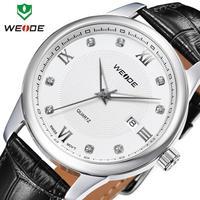 brand ladies watch genuine leather straps watches new WEIDE fashion quartz 30m water resistant watch  calendar analog watch