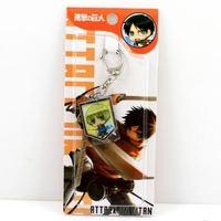 free shipping japan anime  Shingeki no Kyojin keychain keyring phone strap (10pcs lot) b2614