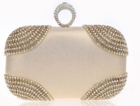 New arrive Punk fashion ring  Luxury Bling evening bag Day Clutch For Wedding  wholesale spot party