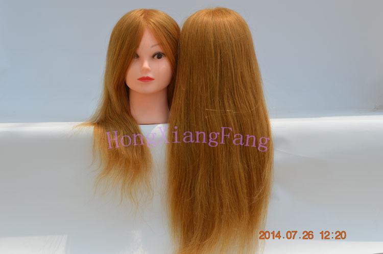 Cheap Cosmetology Mannequin Head 100 Human Hair 47