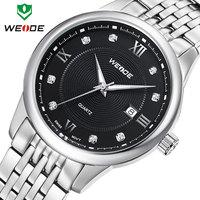 30m water resistant watch fashion WEIDE brand watches men sport casual quartz full steel watches men calendar