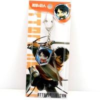 free shipping japan anime  Shingeki no Kyojin keychain keyring phone strap (10pcs lot) b2616