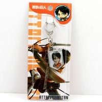 free shipping japan anime  Shingeki no Kyojin keychain keyring phone strap (10pcs lot) b2620