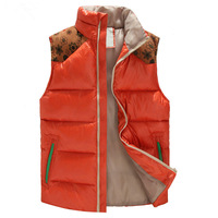 Top brand 2014 thermal cotton vest male slim national trend cotton vest men's Casual Sleeveless Jacket Waistcoat 4 Colors M- 5XL