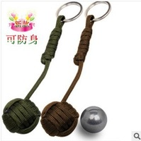 NEW Paracord Cord Key Monkey Fist steel Core self-defense Survival keychain Sailor Knot Outdoor Camping Travel Kit