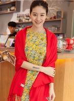 Hot sale Women's Quality Assurance solid Scarf  Tassel Shawl Scarves pashmina Warm Winter essential WLSC007