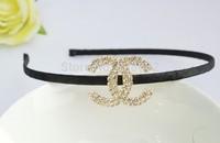 100% guarantee!Free shipping fashionable rhinestone letterhairbands cover headband women headwear 12pcs/lot