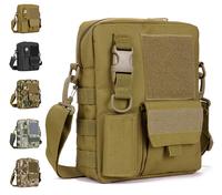D5 Tablet Computer Nylon Case Men Tactical Waterproof Shoulder Bag Velcro Molle Messenger Pouches Camouflage