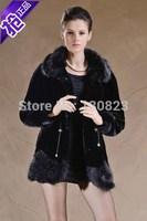 Fur Coats Rushed Solid New Long Covered Full 2014 Women's Clothing Female Medium-long Imitation Mink Overcoat Rex Rabbit Coat