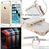 Ultra Thin Slim Alu Metal Bumper Frame Case for iPhone 5 5s + Film