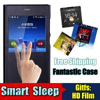 New Arrival Luxury XIAOMI MI3 Case, Smart Sleep Open-windows series Leather flip Cover case for XIAOMI M3 xiaomi 3 Free Gifts