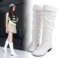 2014 women's autumn and winter shoes medium-leg  martin boots female snow boots plus size women's shoes 40 - 43 thick heel