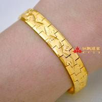 Men 10mm wide wedding sunshine Jewellery 22K yellow gold filled screw chunky cuff bracelets & Bangles FREE SHIPPING