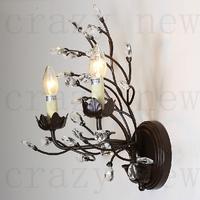 free shipping E14/E12 40W D25 cm 2-lights Retro  American country Iron  wall lights Crystal