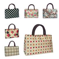 666 bags double zipper handbag cloth women's handbag small bags handbags double layer lunch bag women's bag