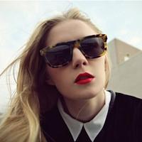 Karenwalker fashion sunglasses vintage sunglasses leopard print male sunglasses box