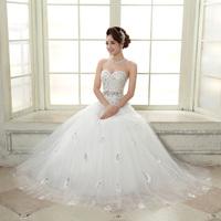 2014 bride white slim tube top wedding qi