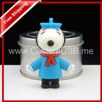 Cartoon Snoopy dog USB Flash Drive Thumb Pen Drive U Disk Flash Disk 128MB 4gb 8gb 16gb 32gb free shipping