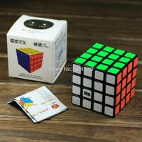 New YJ MoYu Weisu Black 4x4 Magic Cube 4x4x4 Speed Magic Cube Wei Su Cube Twist Puzzle 6.2cm Educational Toys Children Gift Toys