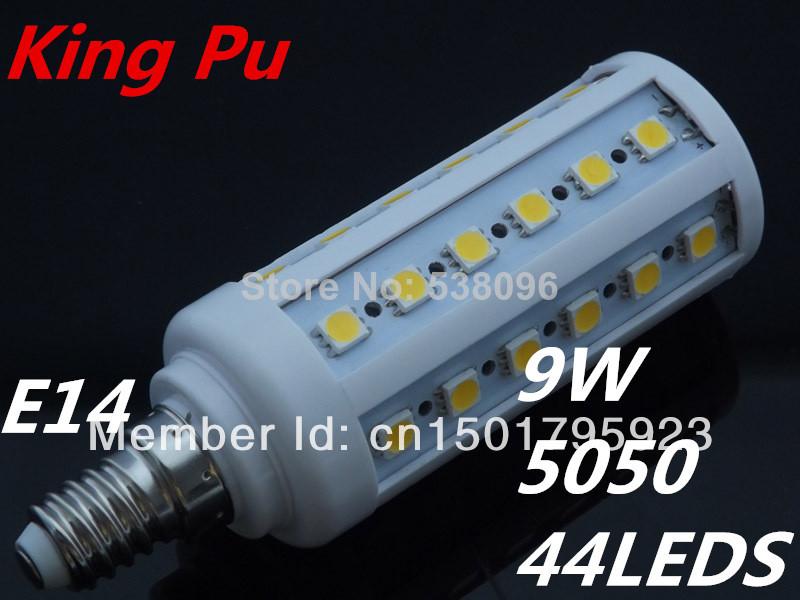 10pieces/lot Lampada led lamp E27 110V - 130V 9w Epistar smd 5050 44 led corn light bulb LED Bulbs&Tubes solar Lumen 790-850 Lm(China (Mainland))