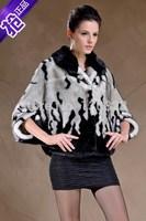 Rabbit Fur Coat Rushed Time-limited Coat New Arrival Half 2014 Autumn And Winter Fashion Imitation Mink Women Cloak Cape Fur
