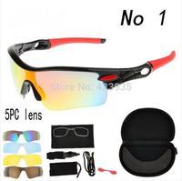 2014 New Best Quality Radar Path Polarized Cycling Bicycle Bike Outdoor Sports Eyewear Sunglasses men's sunglasses 5pcs Lens