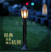Outdoor Classical Garden Lawn Lamp Aluminium Fitting Waterproof Garden Landscape Lights 110V/220V E27 Road Lamp