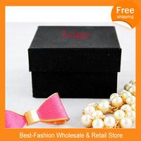 Free Shipping Brand Watch Box Black Paper Luxury Case+Drop Shipping