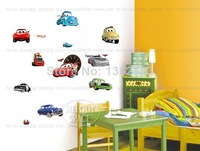 Free Shipping Cars Wall Stickers Kid Favorite Cartoon Figure Window Cling Mixable Children Room Daycare Decal TC1088