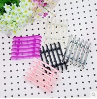 practical  Silver Nail Art Makeup Brush Pen Holder Stand Rest Acrylic UVhot  new
