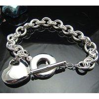 Wholesale 925 silver Bracelet, 925 silver jewelry Bracelet / 925 silver Bracelet with pendant free shipping LKB040