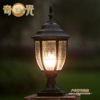 Pillar caplights lamp post lawn lamp fashion outdoor waterproof lighting fitting 110V/220V E27 LED Lamp