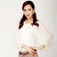 New arrive 2014 women's shirt cultivate one's temperament chiffon shirt long sleeve shirts Free shipping