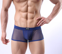 Men Breathable mesh pants Sexy underwear Man pants Fashionable man