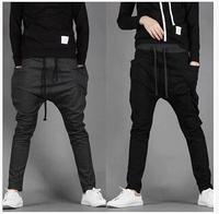 Free shippingHot Sale New 2014 Men Sport Pants Regular Fit Sports Harem Pants Bag Jogging Trousers Sweatpants