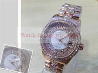 New Arrival TOP brand super rhinestone female dress Watch Quartz oversize luxury High gold Stainless steel diamond wristwatch