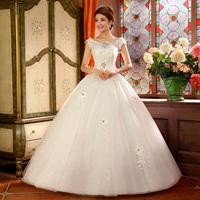 2014 bride white vintage slit neckline fashion wedding qi