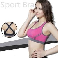 2014 Hot Professional sports underwear anti-rattle running sports bra wireless vest design bra yoga push up underwear female