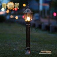 Black/Bronze 80CM LED Lawn lamp garden lights road lamp garden lights fitting outdoor pole lamps E27 base socket 110V/220V