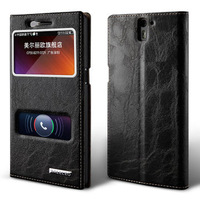 Ultra-thin flip open with window mobile phone protective case for oneplus one ,one plus one case