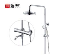 Bathroom copper intelligent constant temperature shower classical circle thermostatic shower set belt faucet