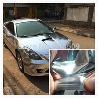 High Quality 1.52x20m Silver Three Layers Stretchable Chrome Vinyl for Car wrap